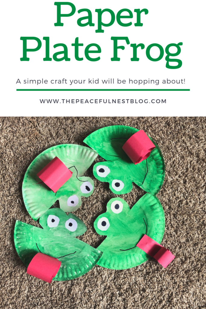 Paper Plate Frog Craft For Kids The Peaceful Nest